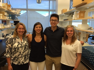 2016 Ted Mullin Fund Scholars: (L to R) Allie Clark, Geralyn Lam, Jason Xu, Elizabeth Joyce