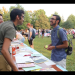 Students attend the 2017 Organizations Fair on the Bald Spot.