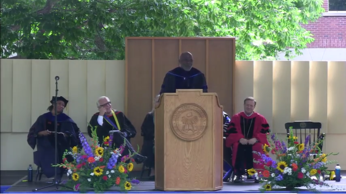 Alan Page at Commencement 2016