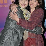 Actress Juliette Binoche and her sister, documentary filmmaker Marion Stahlens